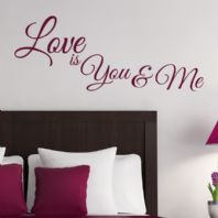 Love is You and Me~ Wall sticker / decals
